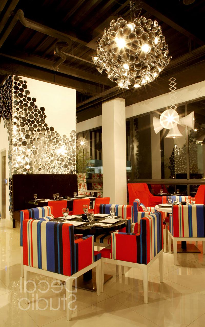 دکوراسیون داخلی رستوران پاپاراتزی